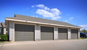 On Site Garages at Stoneleigh on Cartwright Apartments, J Street Property Services, Texas