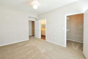 Floor Plan with Large Closet at Stoneleigh on Cartwright Apartments, J Street Property Services, Texas, 75180
