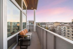 Private Balcony With Seating at The Q Variel, Woodland Hills, California