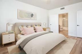 Apartment Master Bedroom at Le Blanc Apartment Homes, Canoga Park, CA