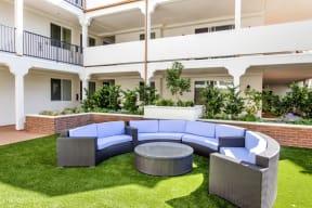 Courtyard Garden at Le Blanc Apartment Homes, Canoga Park, California