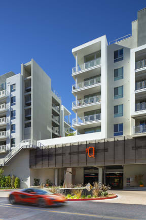 The Exterior of the Q Variel - Luxury Apartments in Woodland Hills