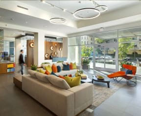 The Lobby at the Q Variel - Luxurious Apartments for Rent in Woodland Hills