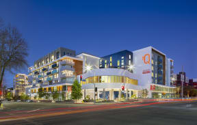 Night View of the Q Variel - Luxury Apartments in Woodland Hills