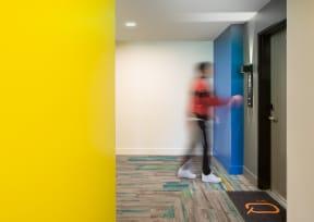 hallway The Q Variel Woodland Hills Luxury Apartments