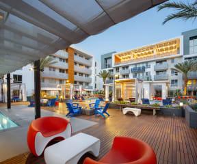 Cabana View luxury apartments The Q Variel Woodland Hills CA