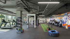 The Q Variel Gym workout area