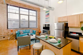 Bright and sunny Ovaltine Court Lofts.