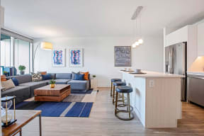 Lincoln Common One Bedroom Apartment Open Layout