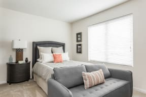 Bedroom With Expansive Windows at 310 @ Nulu Apartments, Kentucky, 40202