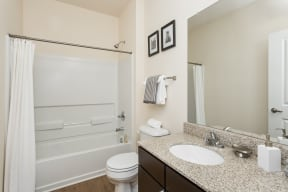 Luxurious Bathrooms at 310 @ Nulu Apartments, Louisville, KY