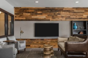 Clubroom With Smart Tv And Ample Of Sitting Area at 310 @ Nulu Apartments, Louisville, KY, 40202