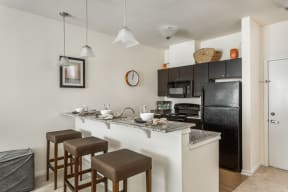 Gourmet Kitchen With Island at 310 @ Nulu Apartments, Louisville, 40202