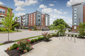 Courtyard With Green Space at 310 @ Nulu Apartments, Louisville, 40202