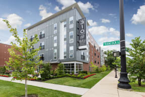 Elegant Exterior View Of Property at 310 @ Nulu Apartments, Louisville, KY