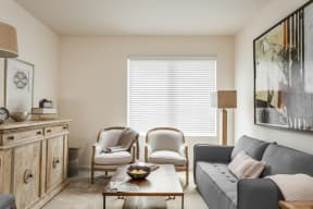 Modern Living Room at 310 @ Nulu Apartments, Louisville, KY, 40202