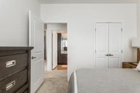Bedroom with Private Bath at 310 @ Nulu Apartments, Louisville, Kentucky