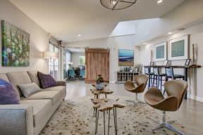 Decorated Lounge Area