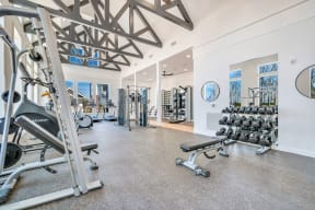 24-Hour Fitness Center With Free Weights at Alta Croft, North Carolina