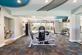 Fitness center showing the weight