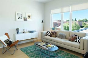 Burnside 26 in Portland, OR studio living room
