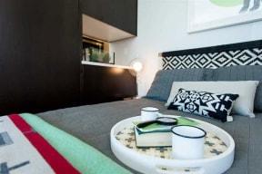 Burnside 26 in Portland, OR studio bedroom area