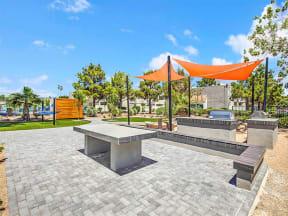 Outdoor lounge/kitchen area