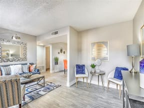Model living room area