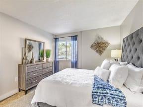 Model bedroom with dresser