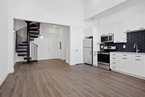 Model kitchen and entry way