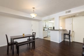 Hawthorne Apartments dining room