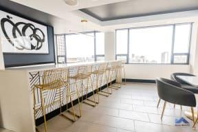 Two East Oak Tenant Lounge Breakfast Bar Seating
