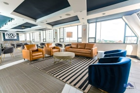 Two East Oak Tenant Lounge Seating City Views