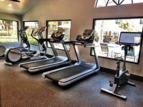 24 Hour Fitness Center, cardio machines