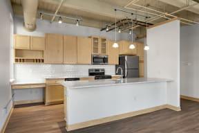 Open Kitchen with Eat-In Breakfast