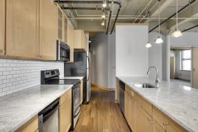 Galley Style Updated Kitchen