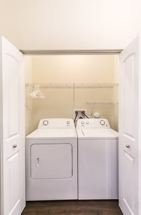 In Home Washer and Dryer Available at Aventura at Forest Park, St. Louis