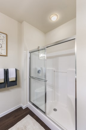 Glass-Enclosed Showers at Aventura at Forest Park, St. Louis, MO 63110