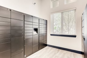 Indoor package lockers