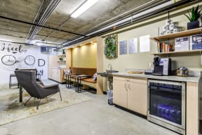 Clubroom living and refreshment area