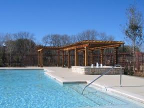 The Positano Apartments Pool Area and Gazebo