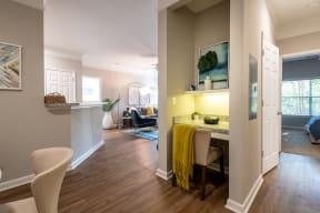 Carrington at Perimeter Park Apartment Built-in Desk