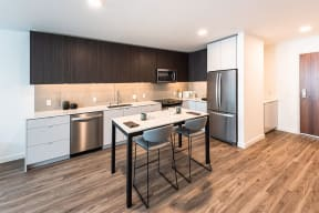 Dining Space in Kitchen at 10 Clay Apartments in Seattle, WA