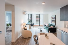 Modern Living Spaces with Decor at 10 Clay Apartments in Seattle, WA, 98121