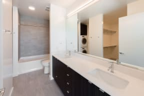 Large Bright Bathroom at 10 Clay Apartments