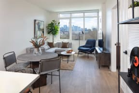 Spacious Living Room at North+Vine, Chicago, IL