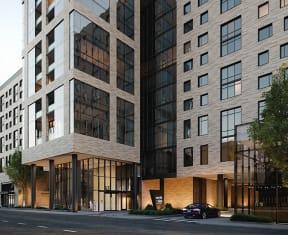 Elegant Exterior View at North+Vine, Chicago, 60610