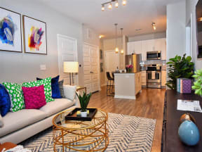 Comfortable Pointe at Lake CrabTree Living Room in Morrisville, North Carolina Apartment Rentals for Rent