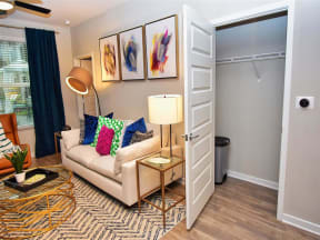 Modern Pointe at Lake CrabTree Living Room in Morrisville, NC Apartment Rentals