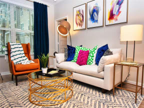 Classic Pointe at Lake CrabTree Living Room Design in Morrisville, North Carolina Apartment Homes